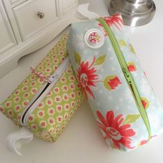 Coated fabric zipped pouches