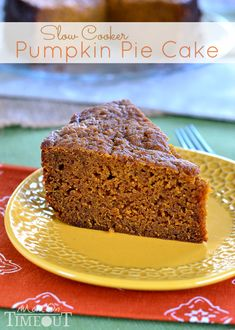 Another pinner says>>> An unbelievably moist Pumpkin Cake straight from your slow cooker!