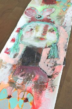 raw art PEDDLE mixed media original by  timssally