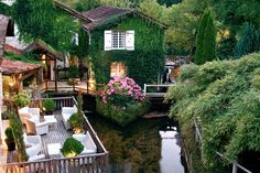 Nestled on the banks of the Dronne River, in Dordogne, Le Moulin du Roc is a charming French country hotel with its own Michelin-starred restaurant