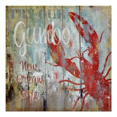 Vintage Restaurant Sign New Orleans Gumbo Posters
