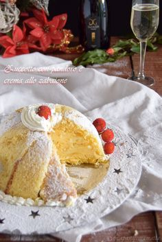 Zuccotto con pandoro e crema zabaione al prosecco Burritos, Different Cakes, My Dessert, Sweet Cakes, Fabulous Foods, Something Sweet, Christmas Desserts, Cake Cookies, Wine Recipes