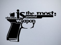 The typographic gun
