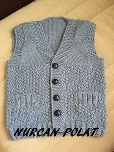 Hızlı ve Kolay Resim Paylaşımı Baby Knitting Patterns, Baby Boy Knitting, Knitting For Kids, Baby Cardigan, Baby Pullover, Matching Sweaters, Baby Sweaters, Toddler Vest, Knit Vest Pattern