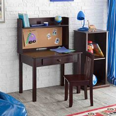 Kids Desk Set Childrens Chair Hutch Furniture School Homework Student Corkboard for sale online Hutch Furniture, Desk Hutch, Kids Furniture, Furniture Design, Reclaimed Furniture, Furniture Online, Vintage Furniture, Desk And Chair Set, Desk Set
