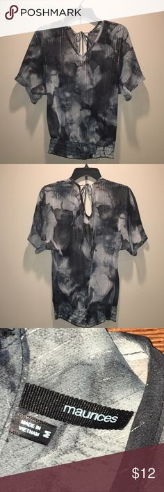 Maurices Black, gray, silver sheer blouse Maurices Black, gray, silver sheer blouse Maurices Tops