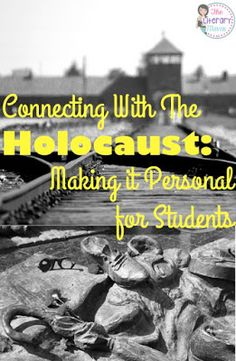 Teaching the Holocaust while reading a Holocaust-related novel can be challenging; there is so much information to be shared, but you don;t want to the topic to become overwhelming, distant, or unreal to students. Analyzing photographs from the time period, assigning students the identity of a Holocaust victim, and a mini-lesson on nutrition are all ways to help students make personal connections with the Holocaust.