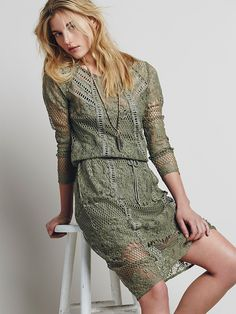 lace dress @freepeople