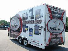 Passport Doors trailer wrap