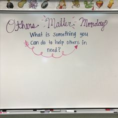 This would be cool to brainstorm for the whole class to think of a small way we could give back to the community! 5th Grade Classroom, Future Classroom, Morning Board, Morning Activities, Daily Writing Prompts, Responsive Classroom, Classroom Community, Morning Messages, Citizenship
