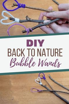 Bubbles have become motorized and plastic toys, so here's a simple way to DIY Back to Nature Bubble Wands that inspire all-natural wonder! toys DIY Bubble Wands from Nature - Laura Noelle Bubble Diy, Bubble Wands, Bubble Magic, Bubble Activities, Activities For Kids, Outdoor Activities, Diy Natural Toys, Diy For Kids, Crafts For Kids