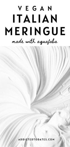 This Italian meringue is made without any eggs! Whipped aquafaba and sugar syrup make this silky stable meringue suitable for vegans.