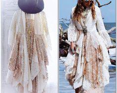 Cyber Monday sale Gypsy lace kimono Romantic by TrueRebelClothing