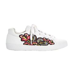 Ash Nak Applique Embellished Lace Up Sneakers