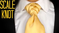 The Scale Knot : How to tie a tie - YouTube