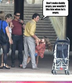 Mark had to leave the premier early because the Hulk scene freaked that little girl out (unless he has another daughter)