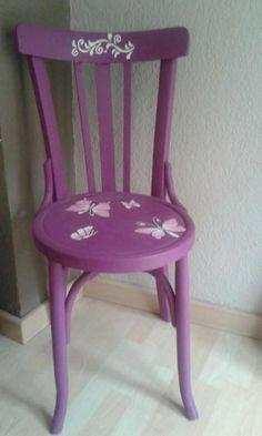 Resultado de imagen de sillas pintadas vintage