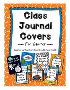 Class Journal Covers for Summer