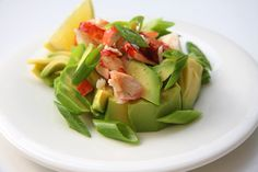 Go all out with our lobster avocado salad made in sesame dressing heaven. Lobster Recipes, Avocado Salad, How To Make Salad, Celery, Potato Salad, Salads, Heaven, Dressing, Vegetables