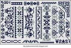 Free Easy cruzada, modelo, fabricante PCStitch Cuadros + Free históricos libros antiguos Patrón: Alphabete und Muster und zum Wäschezeichnen Sticken II
