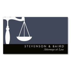 Justice Scale #Attorney at #Law Groupon Business Card