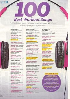 Best Workout Songs (mostly for the ladies)