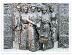 The only National Memorial in Christchurch and the only New Zealand monument depicting the fight for women's suffrage. Nz History, Women In History, Suffrage Movement, Suffragette, The Beautiful Country, Outdoor Art, Powerful Women, New Zealand, Oxford