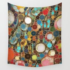 Colorful Tapestry, Buy Gemstones, Society 6 Tapestry, Pointillism, Colorful Paintings, Wall Patterns, Wall Tapestries, Hand Sewn