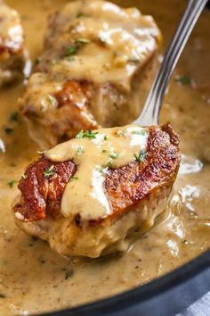 Pork Medallions with Blue Cheese Sauce make a delicious one-pan weeknight dinner that's on the table in 30 minutes! So easy to make with simple ingredients.