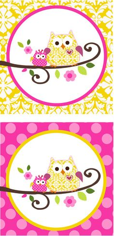 Owl Happi Tree Shower cupcake tags Baby Shower Cupcakes, Printable Tags, Baby Owls, Favor Tags, Shower Invitations, Favors, Handmade Gifts, Party, Etsy