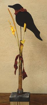 Crow On Bobbin - Kruenpeeper Creek Country Gifts
