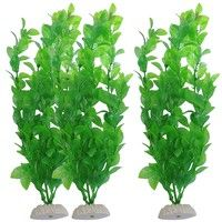 "Wish | 10.6"" Height Green Plastic Artificial Water Plants For Aquarium Fish Tank"