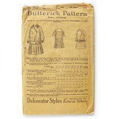 1890's Edwardian Girls Dress / Butterick Sewing by SelvedgeShop