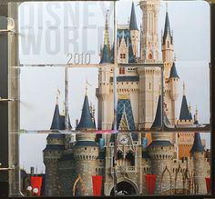 Disney title page--enlarge a photo and cut apart to fit in the pockets!