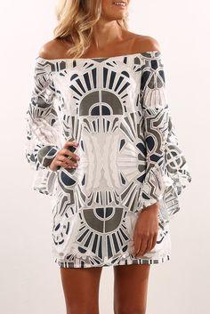 Raglan Dress White #shopgenevacommons #styletips #dress