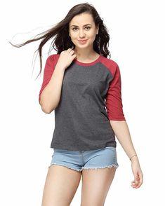 1d8eabadef Campus Sutra Women s Cotton Round Neck T-Shirt Western Wear For Women