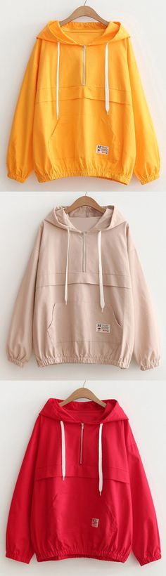 Up to 68% OFF! Patched Pocket Half Zip Hoodie. #Zaful #hoodies Zaful, zaful sweater, zaful outfits, fashion, style, tops, outfits, blouses, sweatshirts, hoodies, cardigan, sweater, cute sweatshirt, floral hoodie, cropped hoodies, pearl sweatshirt, fall, winter, winter outfits, winter fashion, fall fashion, fall outfits, Christmas, ugly, ugly Christmas, Thanksgiving, gift, Christmas hoodies, Black Friday, Cyber Monday @zaful Extra 10% OFF Code:ZF2017