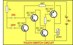 TOUCH SWITCH CIRCUIT                                                                                                                                                                                 More