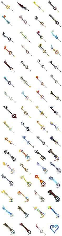 Keyblades Wallpaper by reaver570.deviantart.com on @deviantART