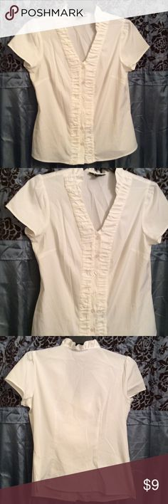 Style & Company Blouse V-neck cut Blouse, buttons in the front. Style & Co Tops Blouses