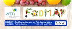 Online-Seminar-Reihe für Ärzt*innen & Ernährungsfachkräfte im Gesundheitswesen: FODMAP – Ernährungstherapie bei Reizdarmsyndrom vom 7.–23. Juli vom Verband für Ernährung und Diätetik VFED  #vfed #dietitian #fodmap #reizdarm #ernährungsfachkräfte #diätologin Fodmap, Plastic Cutting Board, Irritable Bowel Syndrome, Public Health