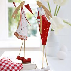 PFR Design loves these red & White bunnies ... they look like our Maileg bunnies from our kids collections! www.pfrdesign.com