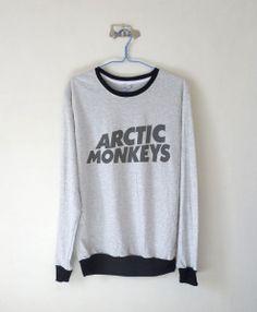 Arctic Monkeys Logo Sweatshirt $15.99 ; Arctic Monkeys Logo ; Arctic Monkeys Sweater ; Fangirl ; Graphic Tees ; Tumblr ; Teen Fashion ; Shop more #ArcticMonkeys fashion at http://kissmebangbang.com/product-category/arctic-monkeys/