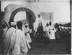 Rabat   Mosquée    Le sultan, à cheval, quitte la mosquée    1918.06.25