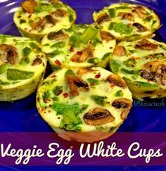 Veggie Egg White Cups - Quick - Easy - Healthy & High Protein Breakfast!
