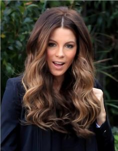 A year from now I might have the length for this 'do. I see why people get extensions! [kate beckinsale ombre hair]