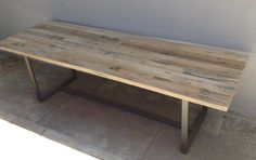 Reclaimed Wood Rustic Industrial Modern Farmhouse Style Indoor / Outdoor Dining Table / Coffee Table