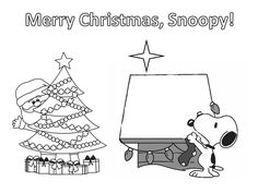 Snoopy christmas coloring pages Too Cute Pinterest Snoopy
