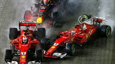 2017 Singapore GP  -  The race lost  Sebastian Vettel, Kimi Raikkonen, Max Verstappen and effectively Fernando Alonso, comprising one fifth of the field, in the first corner, and will be remembered forever as a compromised spectacle that impacted the 2017 world championship. #F1 #Formula1 #SingaporeGP #MarinaBay #ScuderiaFerrari #Seb5 #Kimi7  #RedBullRacing #MaxVerstappen