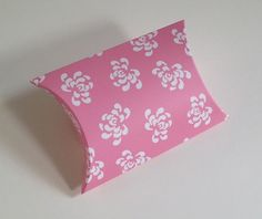 baby pink floral vintage pillow box for wedding favour